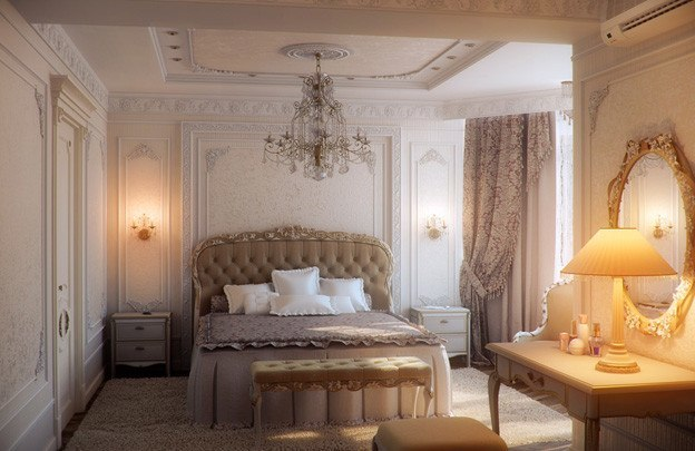 Дизайн красивых спален в классическом стиле