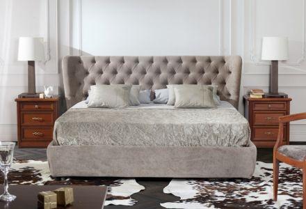 мягкие кровати из ткани из италии